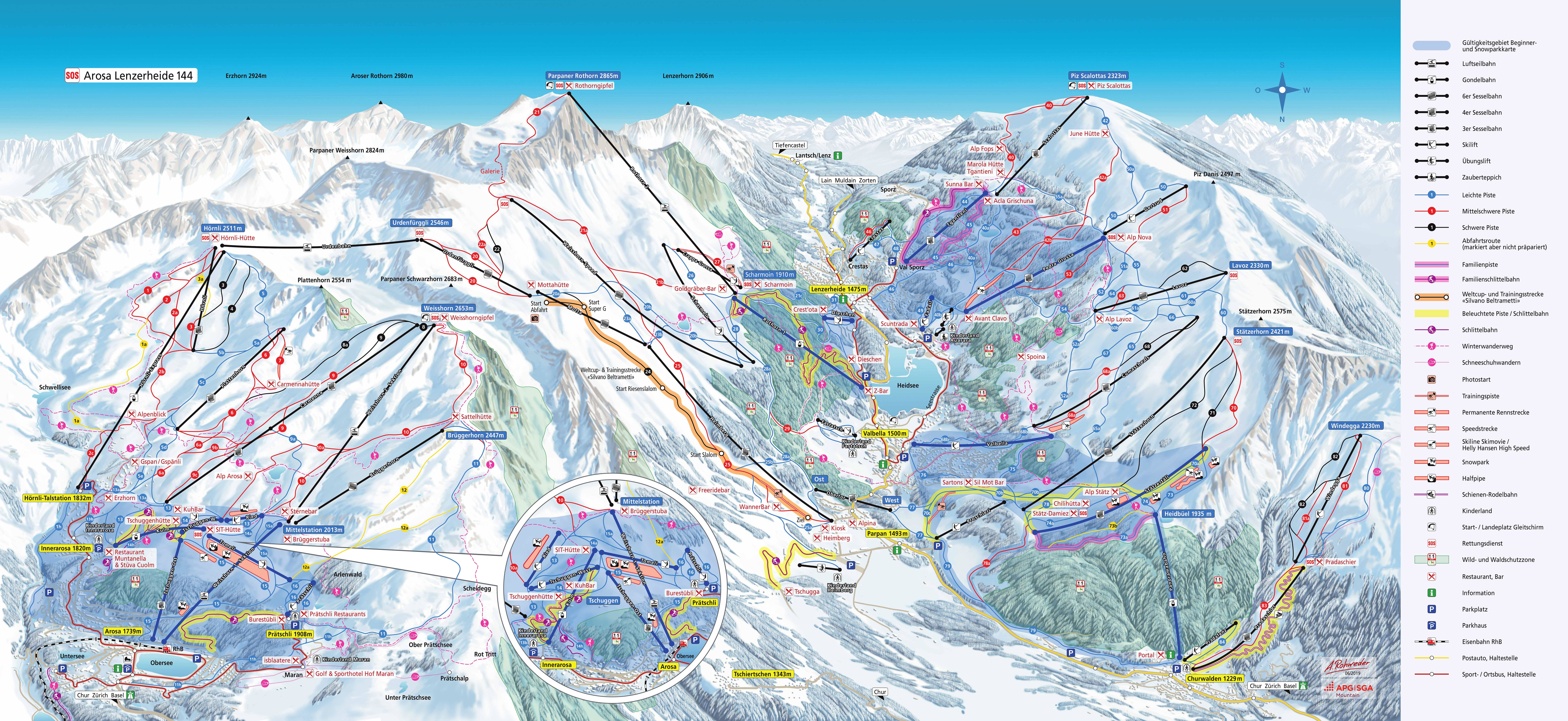 Arosa Piste / Trail Map