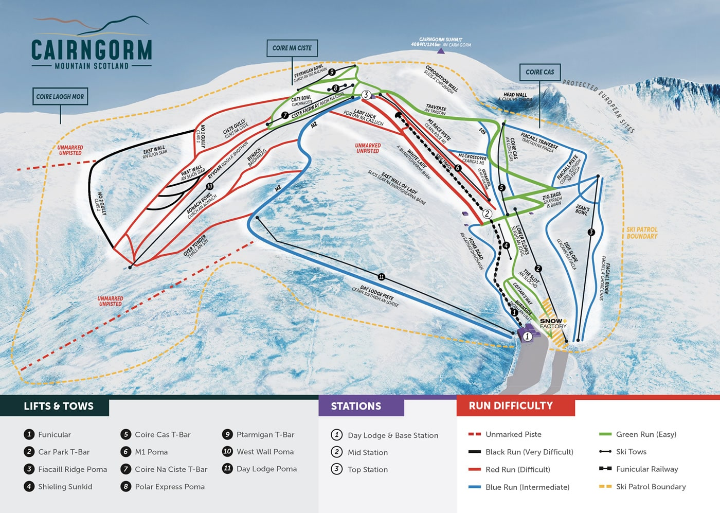 Cairngorm Piste / Trail Map
