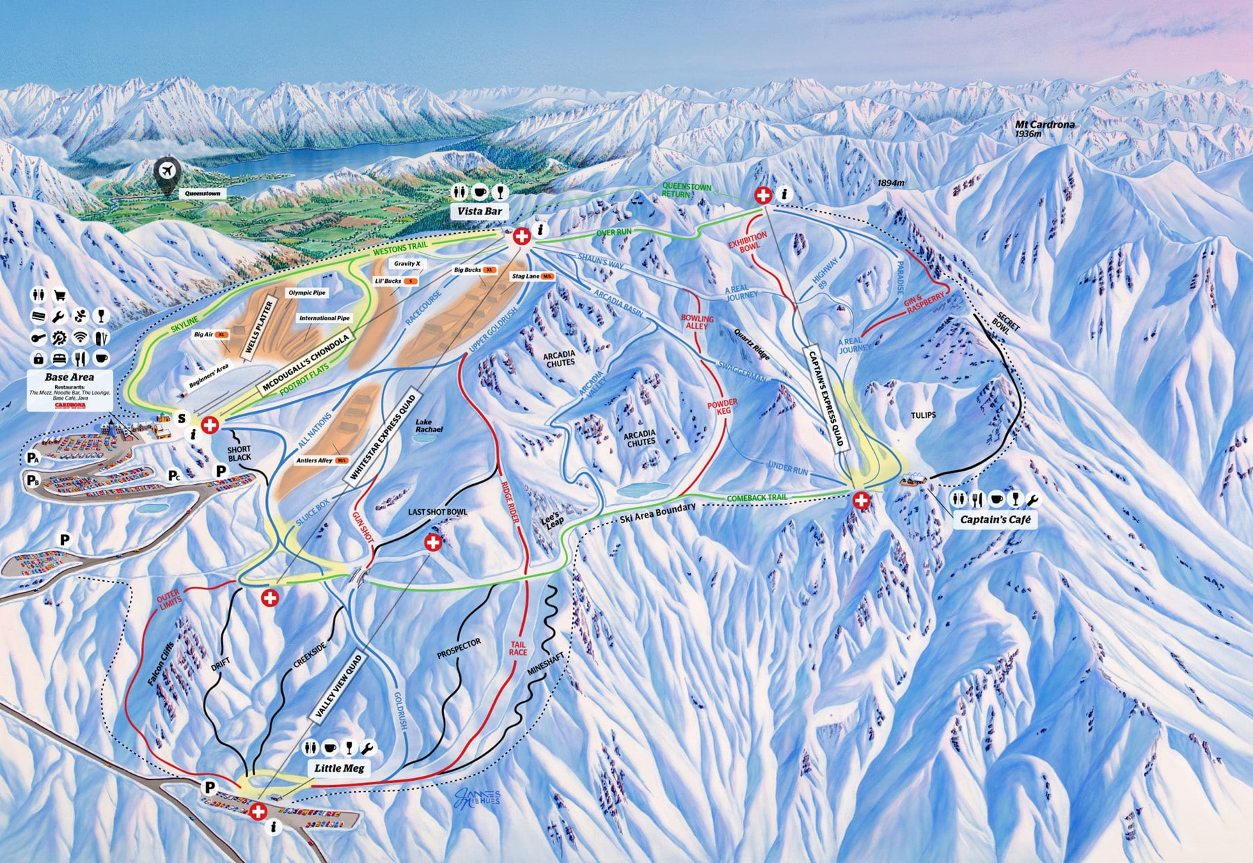 Cardrona Piste / Trail Map