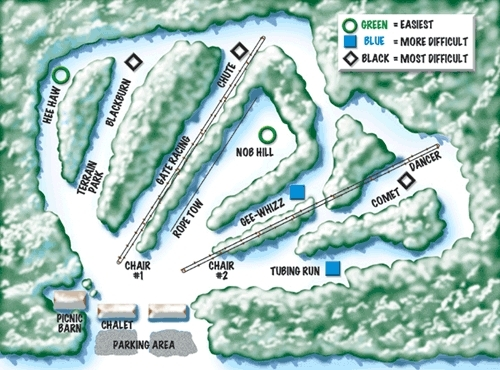 Christmas Mountain Piste / Trail Map
