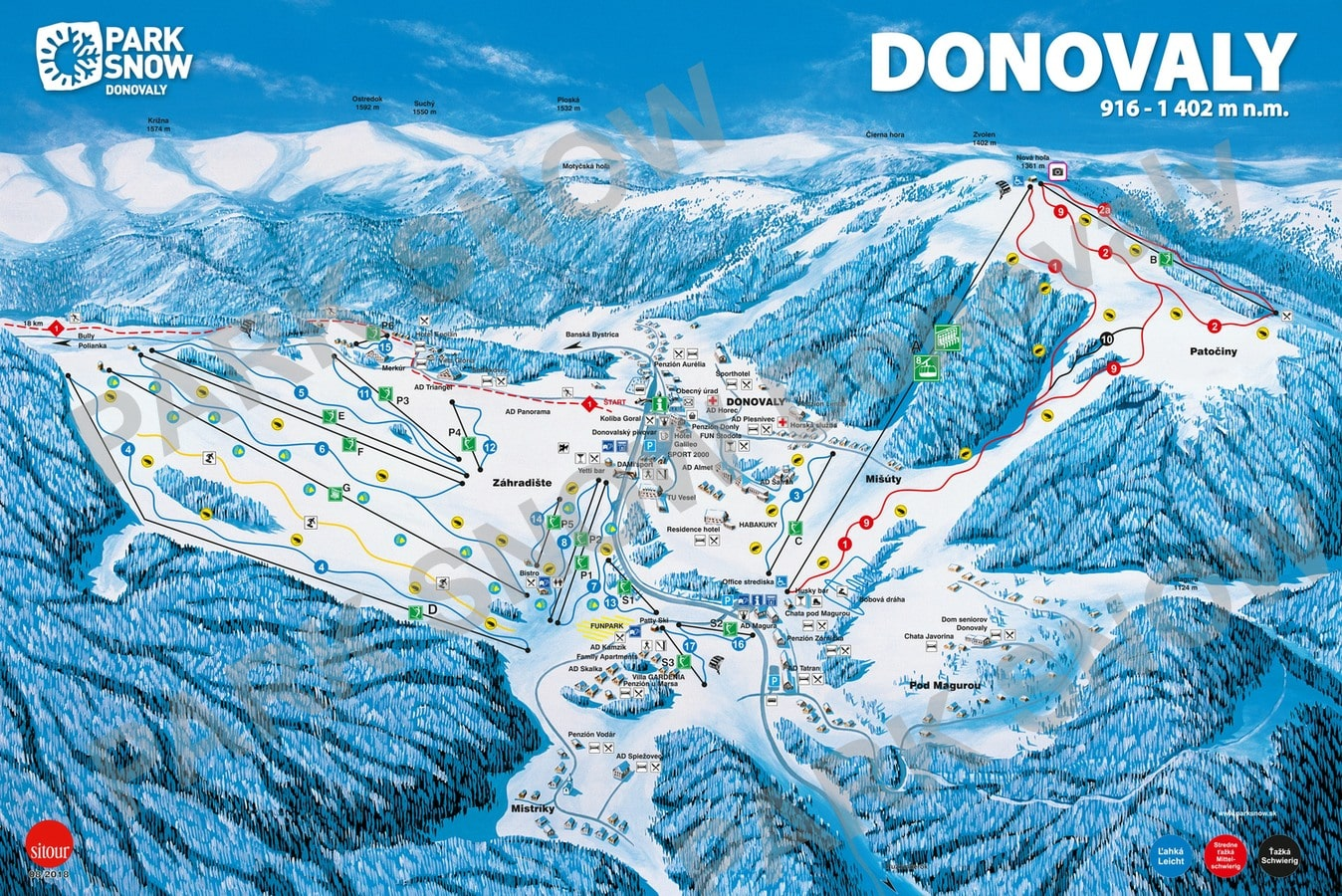 Donovaly Piste / Trail Map