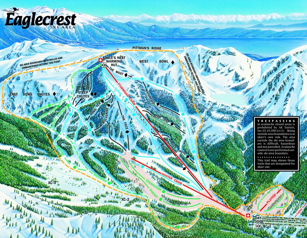 Eaglecrest Ski Area Piste / Trail Map