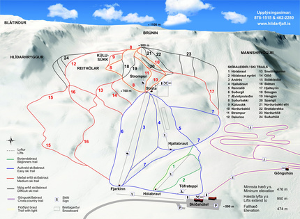Akureyri Piste / Trail Map