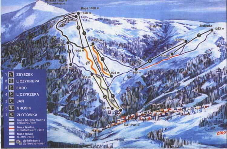 Karpacz - Kopa Piste / Trail Map
