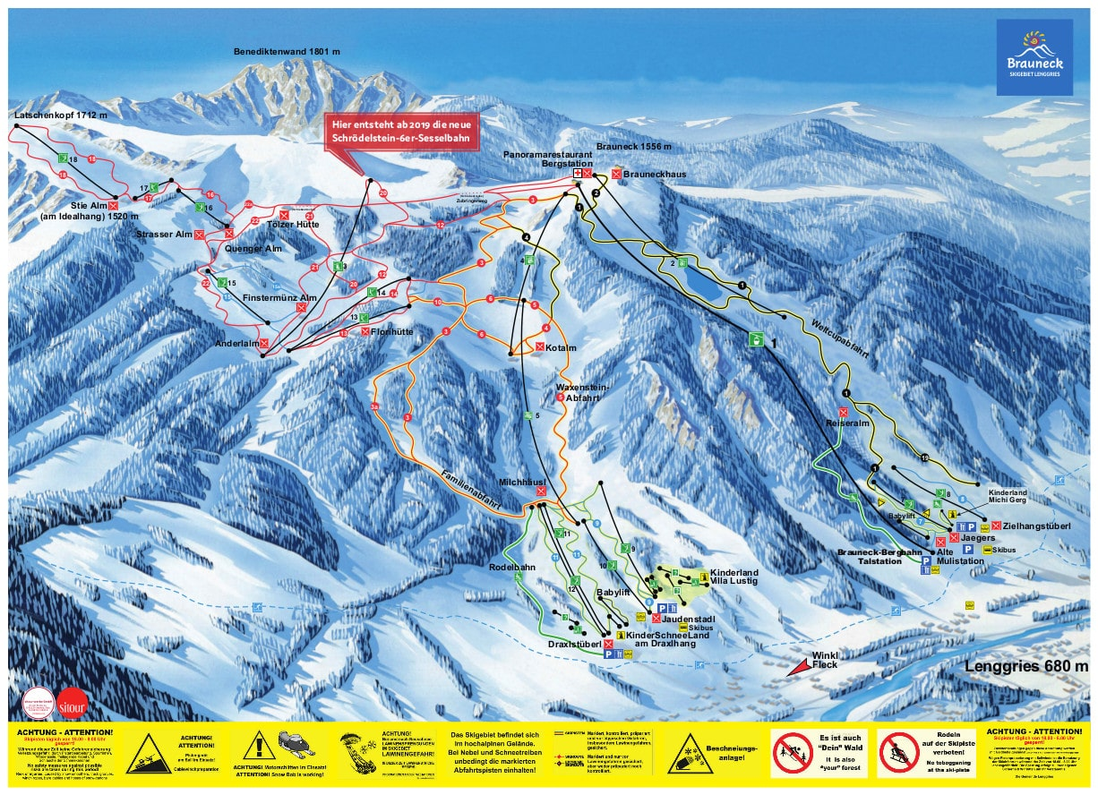Lenggries Piste / Trail Map