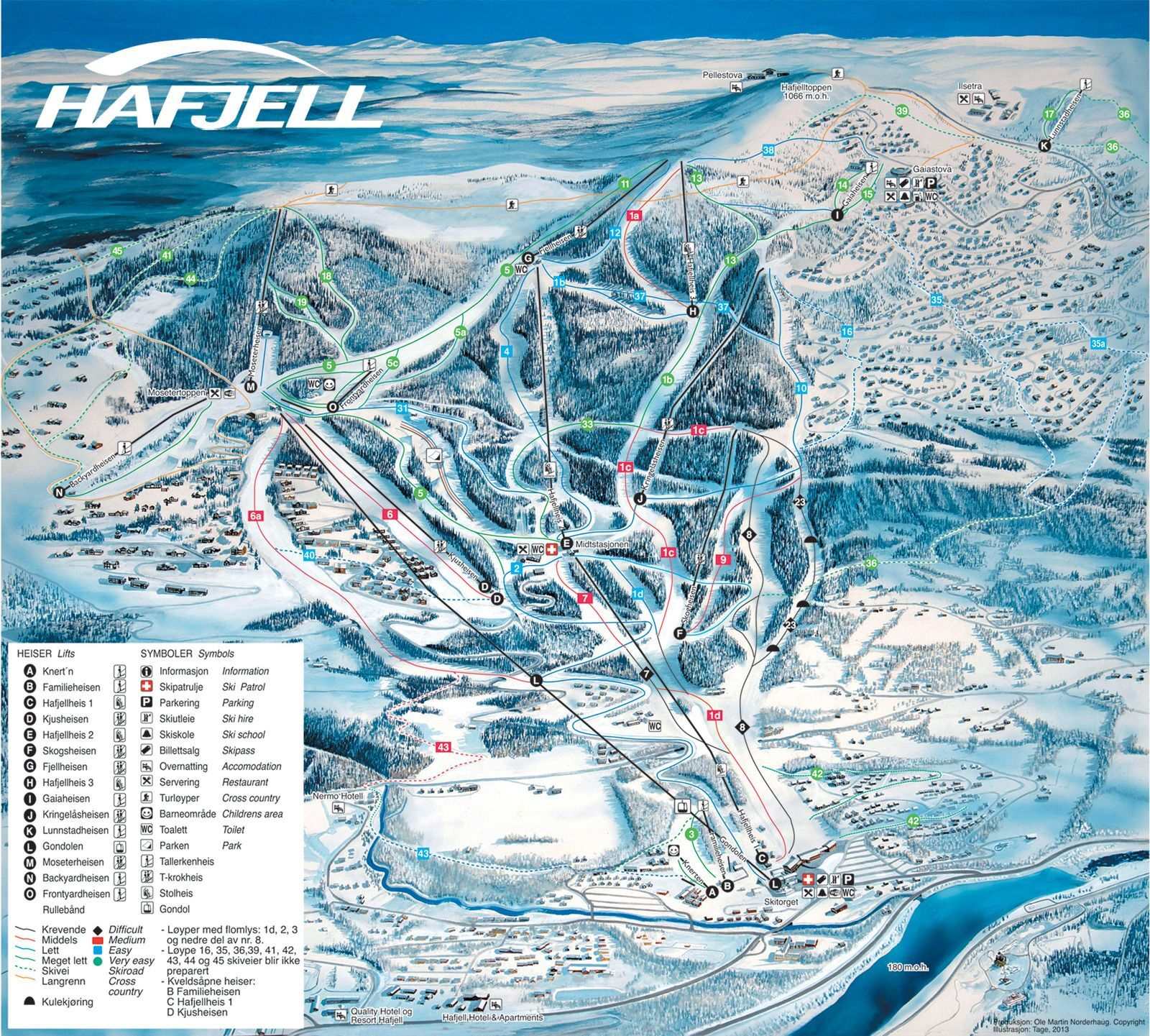 Lillehammer Piste / Trail Map