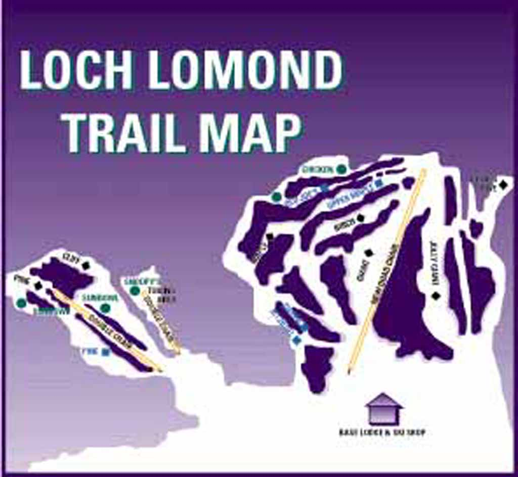 Loch Lomond Ski Area Piste / Trail Map