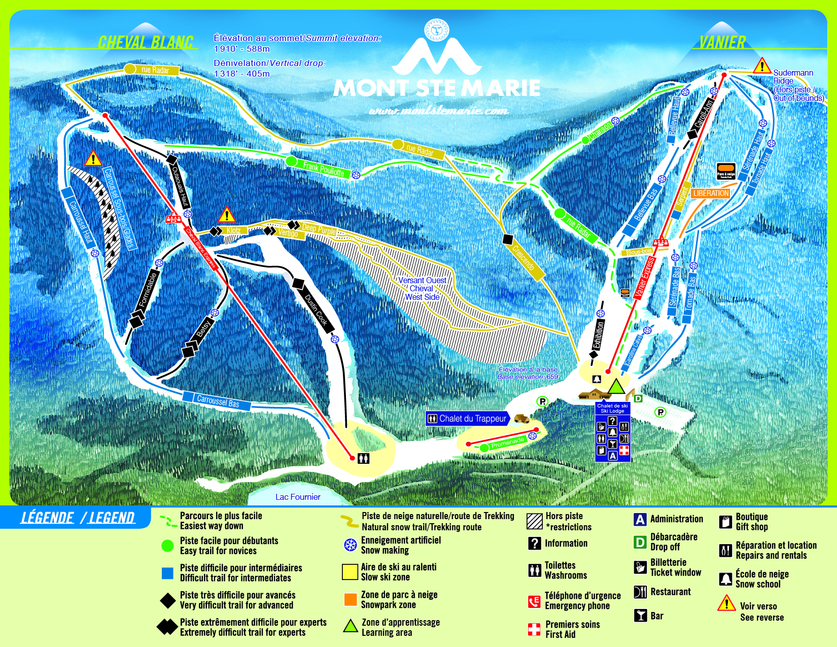 Mont Ste Marie Piste / Trail Map