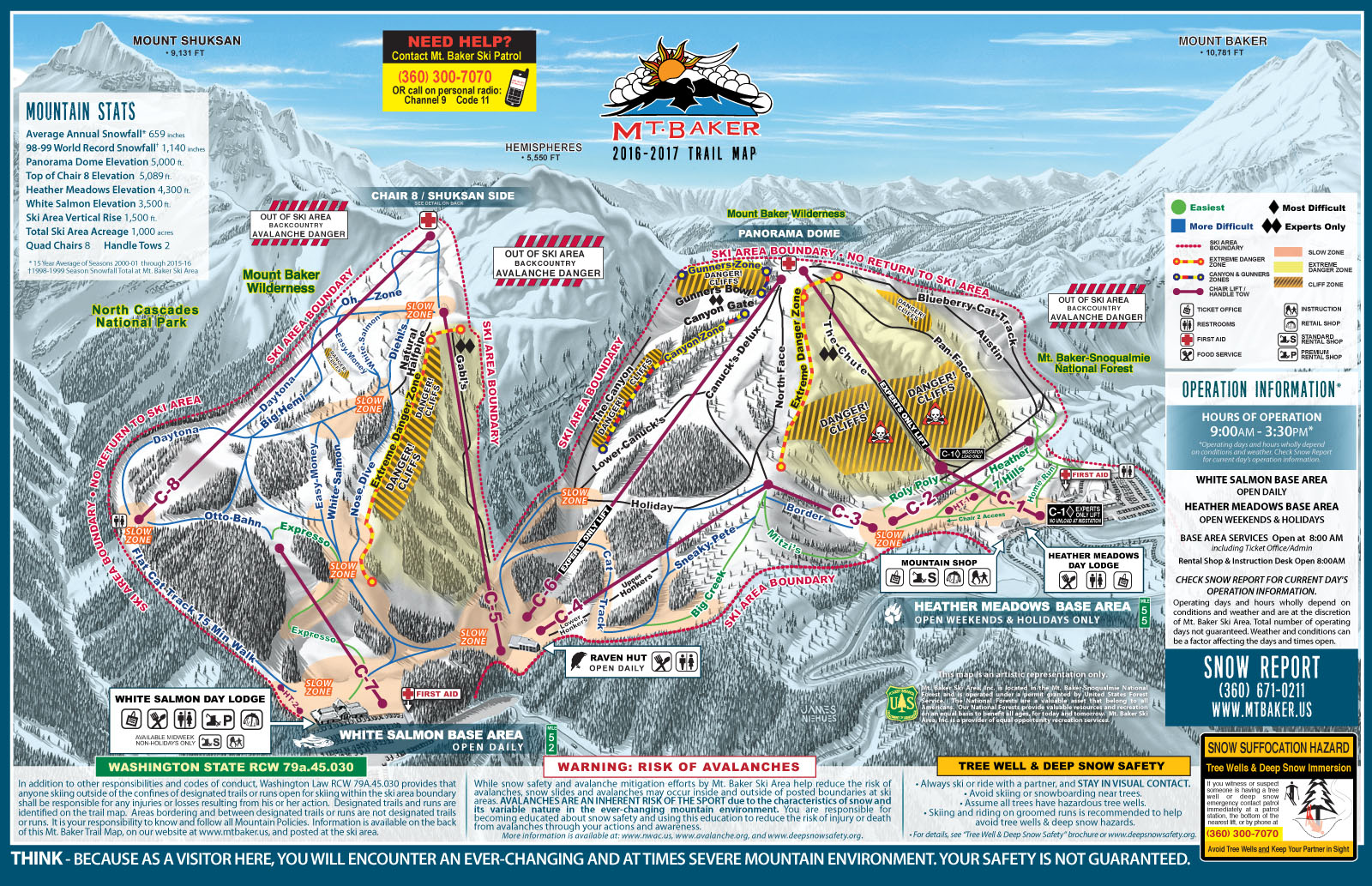 Mount Baker Piste / Trail Map