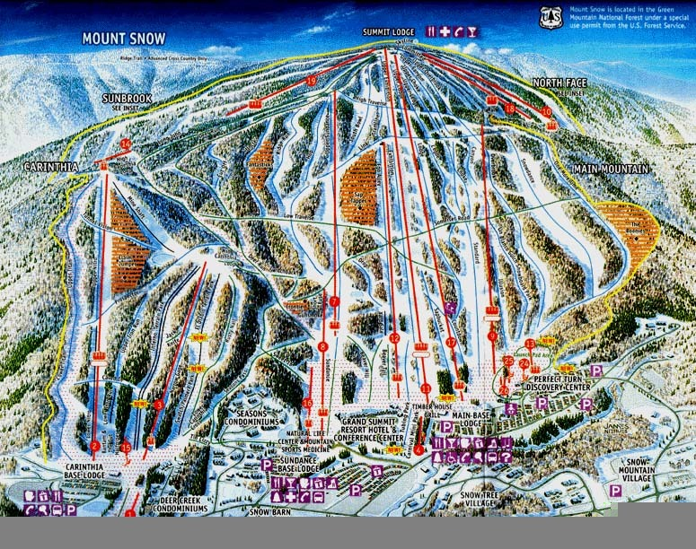 Mount Snow Piste / Trail Map