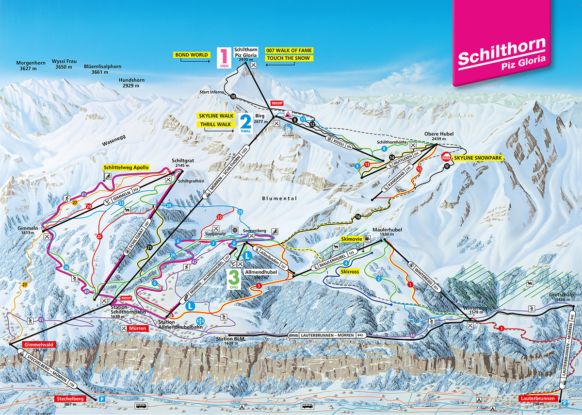 Mürren Piste / Trail Map