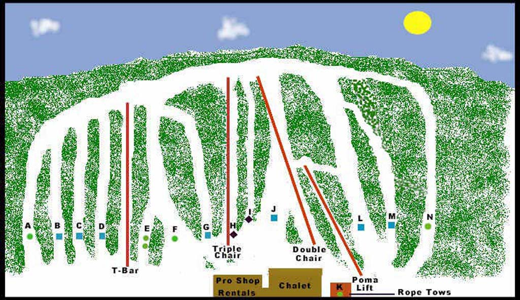 Nordic Mountain Piste / Trail Map