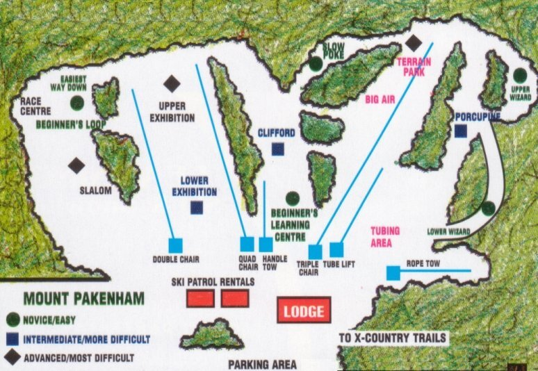 Pakenham Piste / Trail Map