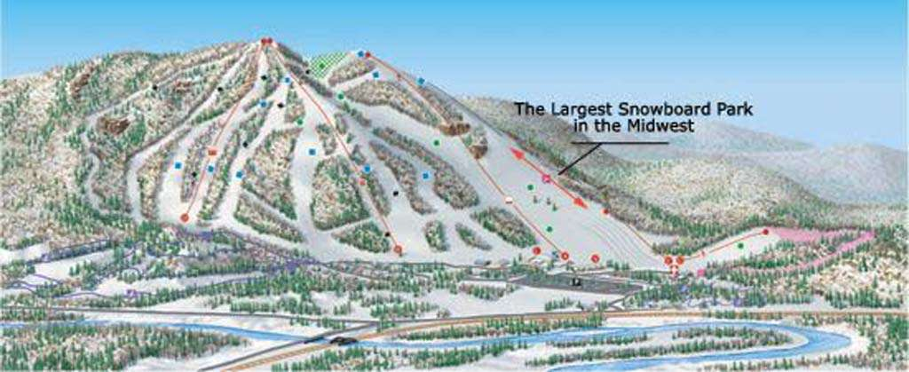 Searchmont Resort Piste / Trail Map