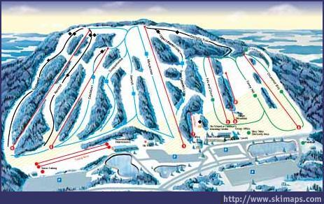 Ski Roundtop Piste / Trail Map