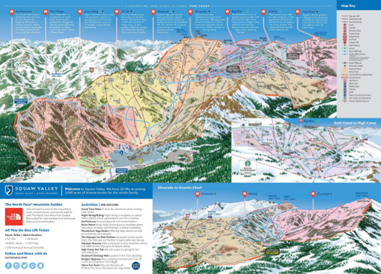 Squaw Valley Piste / Trail Map
