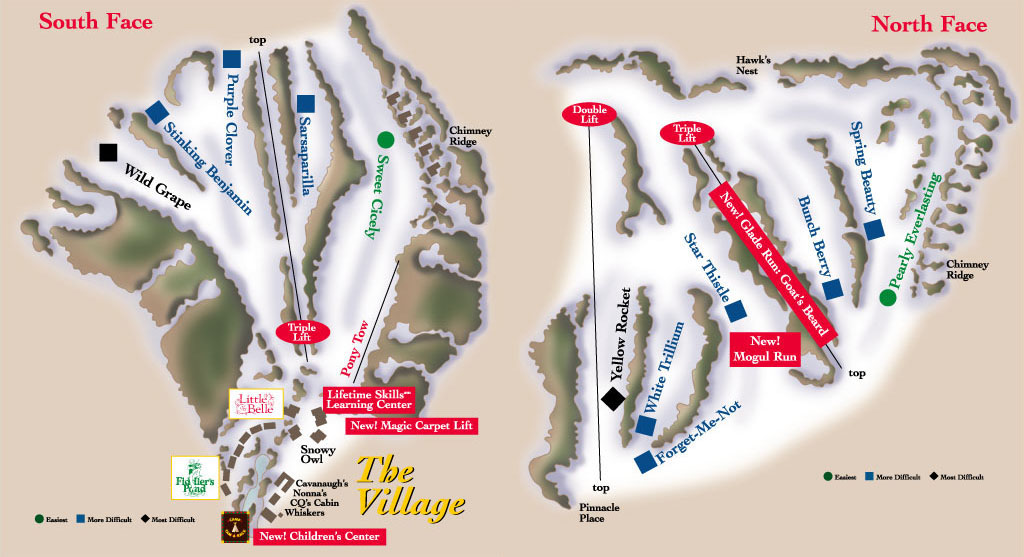 The Homestead Piste / Trail Map