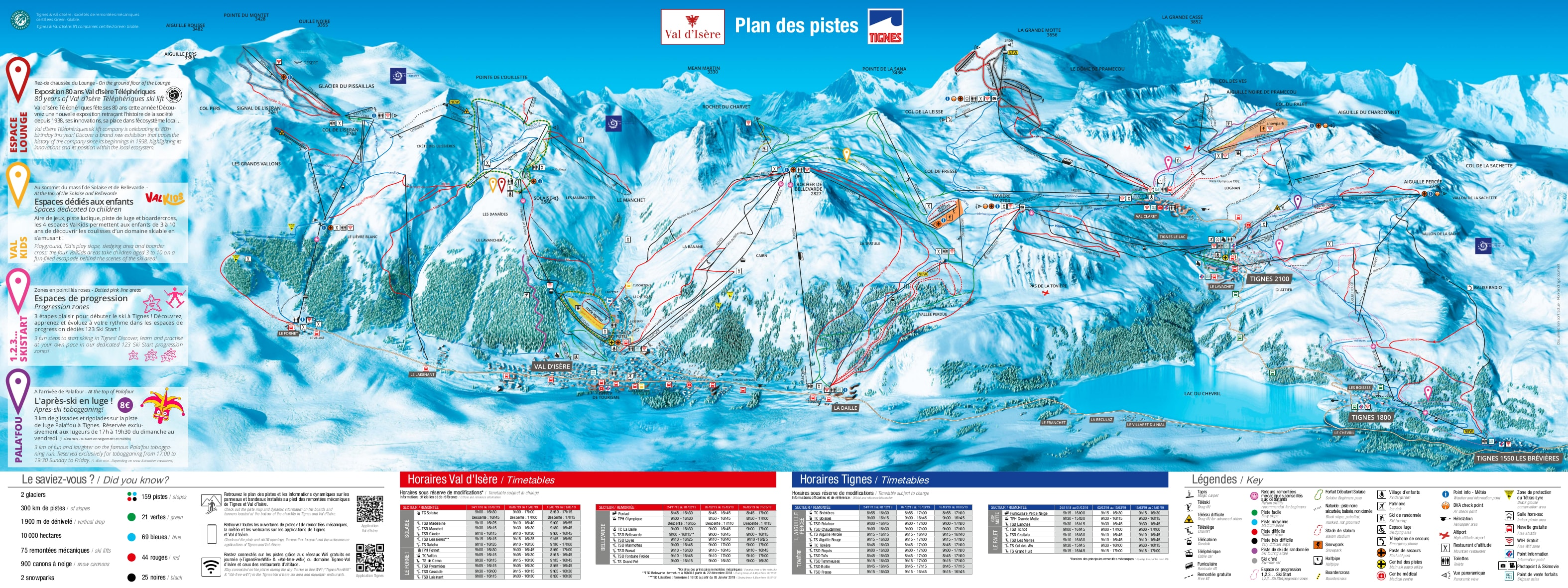 Val d'Isere Piste / Trail Map