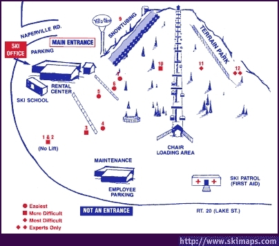 Villa Olivia Piste / Trail Map