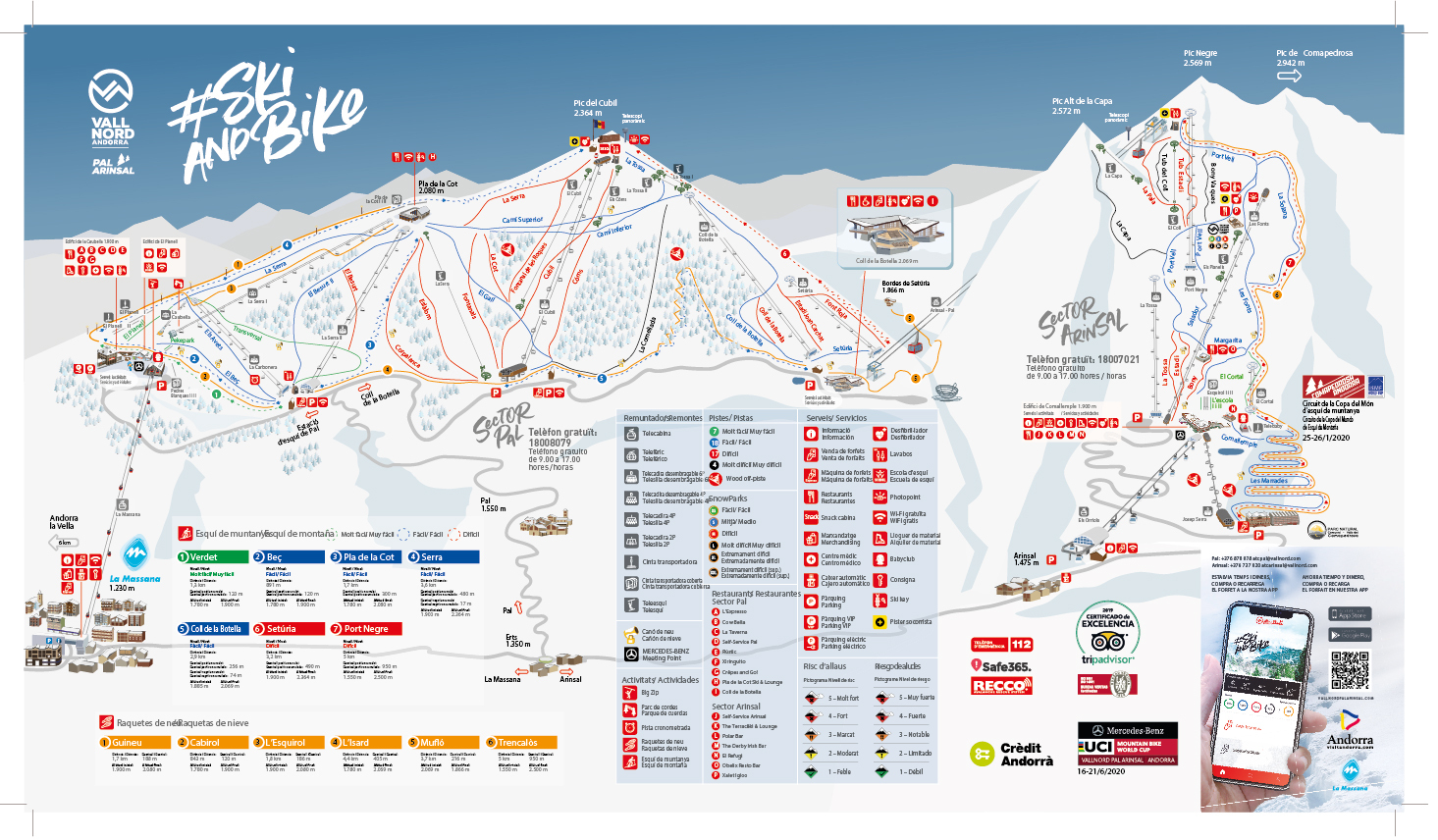 Vallnord-Arinsal Piste / Trail Map