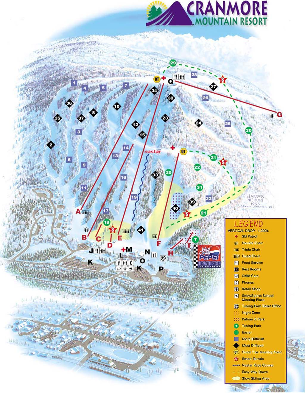 Cranmore Mountain Resort Piste / Trail Map