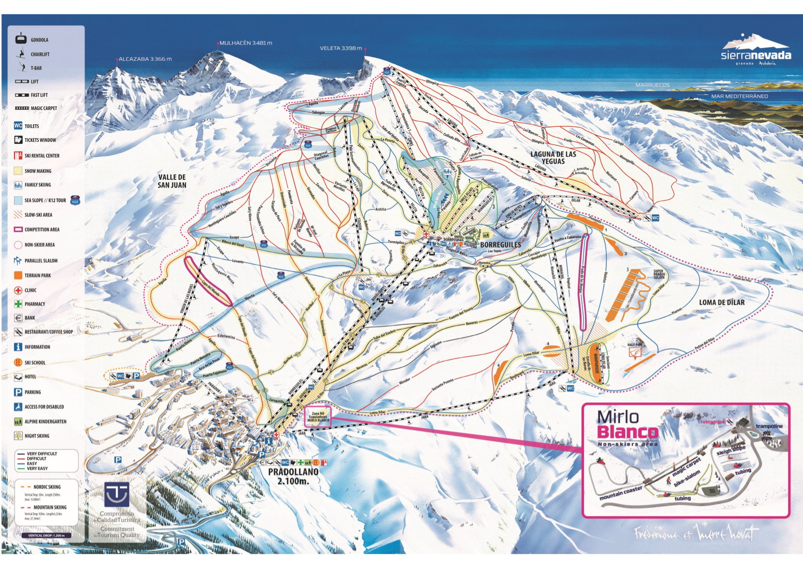 Sierra Nevada Piste / Trail Map