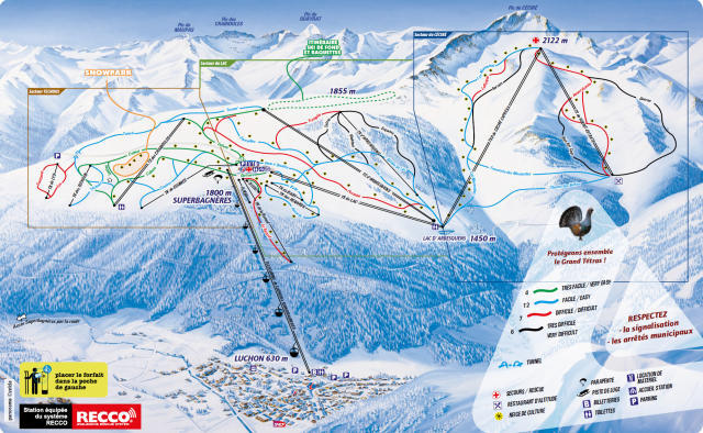 Superbagneres Piste / Trail Map